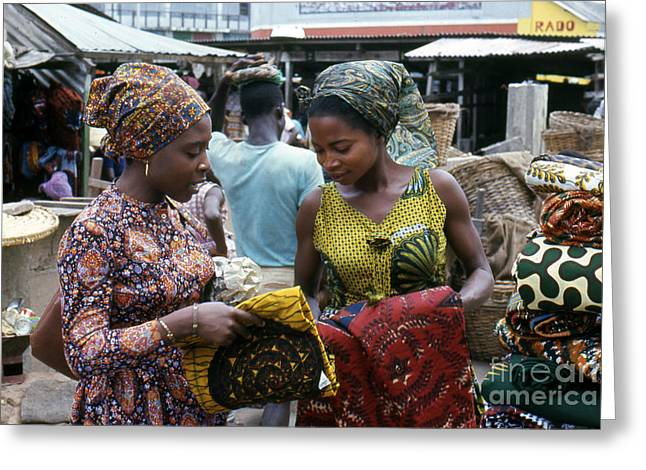 Market In Accra Ghana Greeting Card by Erik Falkensteen