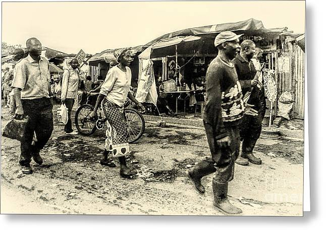 Market In Nairobi Greeting Card