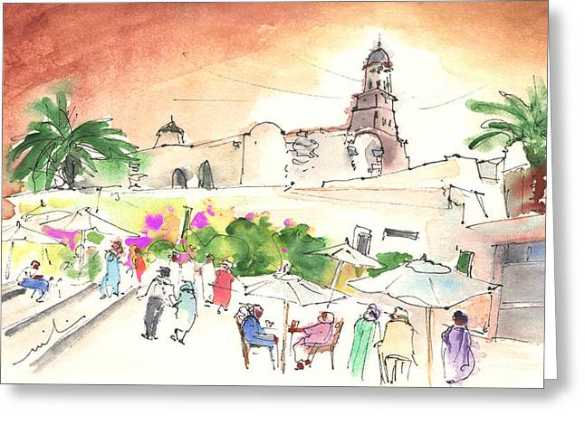 Market In Teguise In Lanzarote 02 Greeting Card by Miki De Goodaboom