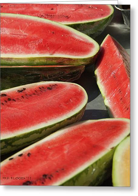 Greeting Card featuring the photograph Market Melons by Michael Flood