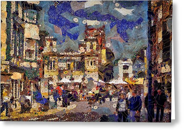 Market Square Monday Greeting Card
