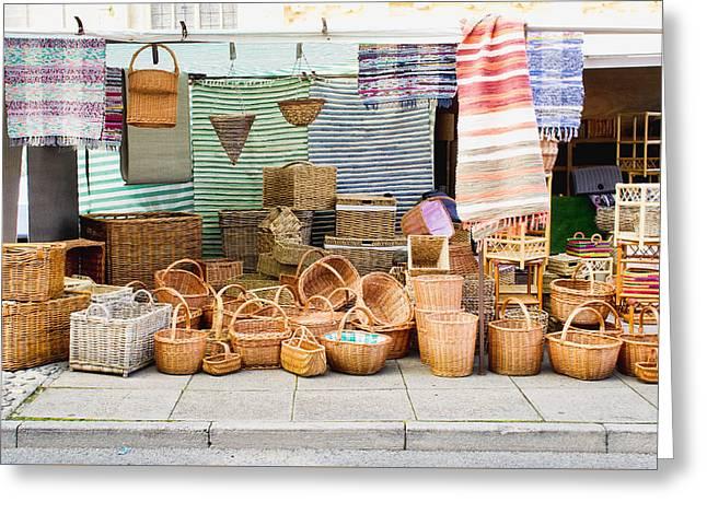 Market Stall Greeting Card by Tom Gowanlock