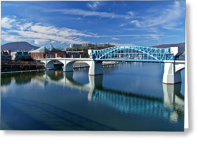 Riverfront Greeting Cards - Market Street Bridge  Greeting Card by Tom and Pat Cory