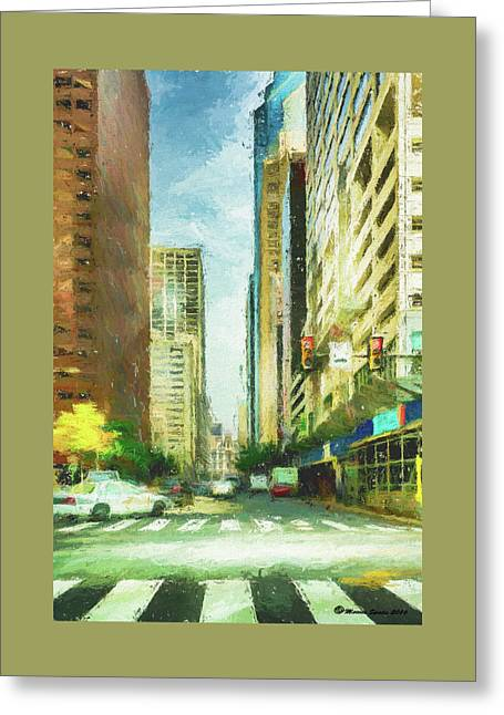 Market Street Greeting Card by Marvin Spates