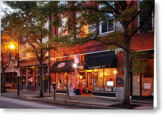 Market Street Shops Greeting Card by Greg Mimbs