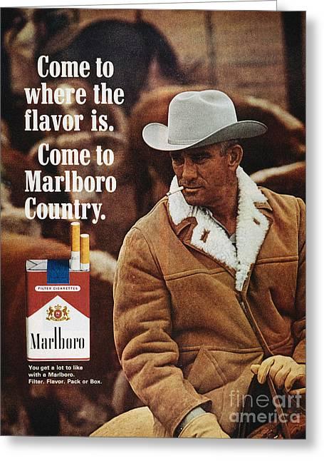 Marlboro Cigarette Ad Greeting Card