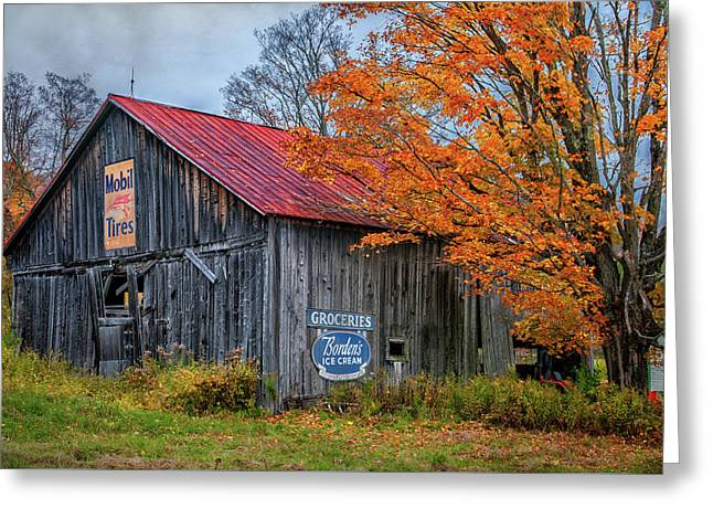 Marlboro Country - Vermont Barn Art Greeting Card by Thomas Schoeller