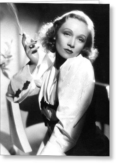 Marlene Dietrich Greeting Card by American School