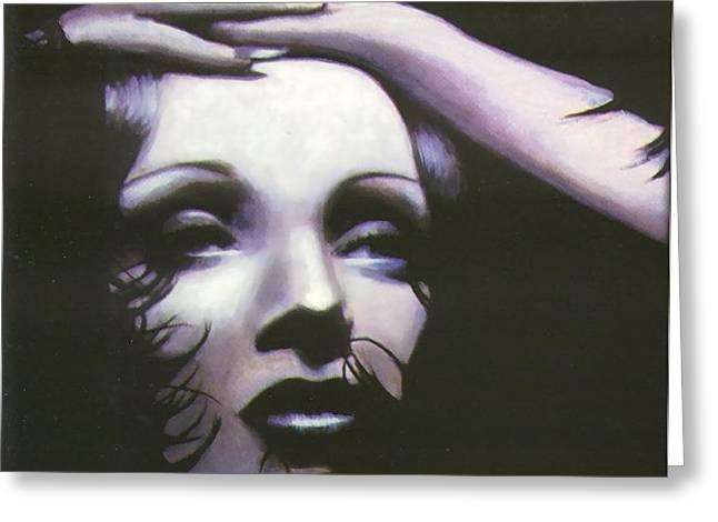 Marlene Dietrich Greeting Card by Elizabeth Silk