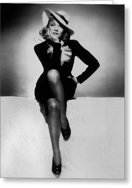 Marlene Dietrich Greeting Card by Unknown