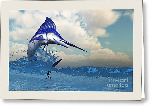 Marlin Greeting Card by Corey Ford