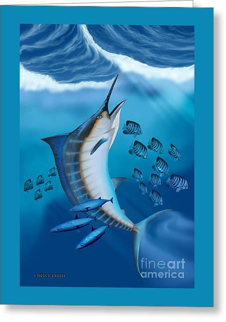 Marlin Fish Greeting Card by Corey Ford