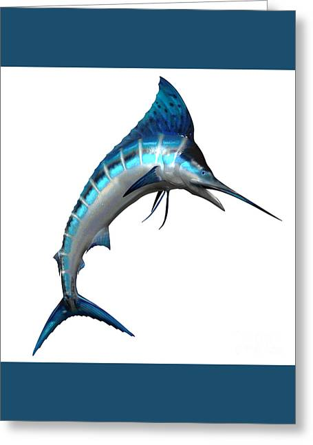 Marlin Side Profile Greeting Card by Corey Ford