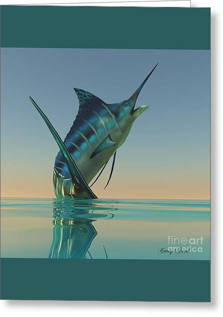 Marlin Sport Fish Greeting Card by Corey Ford