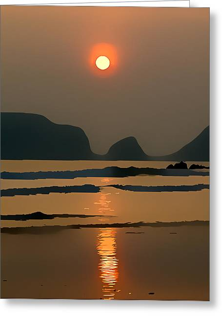Marloes Sunset Greeting Card by Gareth Davies