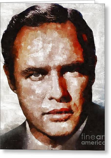 Marlon Brando, Actor Greeting Card