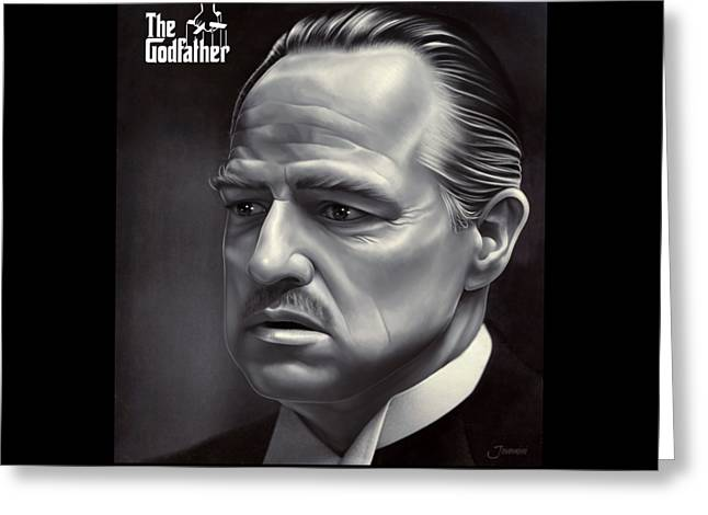 Marlon Brando Drawing  Greeting Card by Jovemini ART