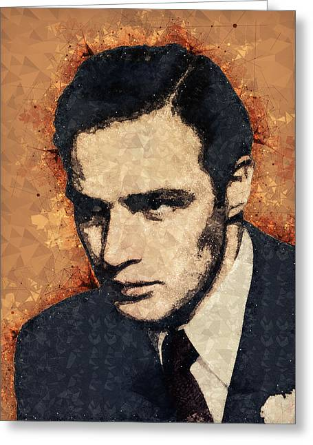 Marlon Brando Portrait Greeting Card