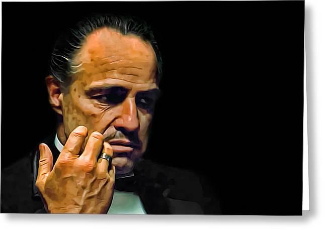 Marlon Brando The Godfather Greeting Card by Movie Poster Prints