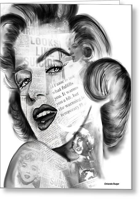 Marlyn Monroe Greeting Card by Christelle Burger