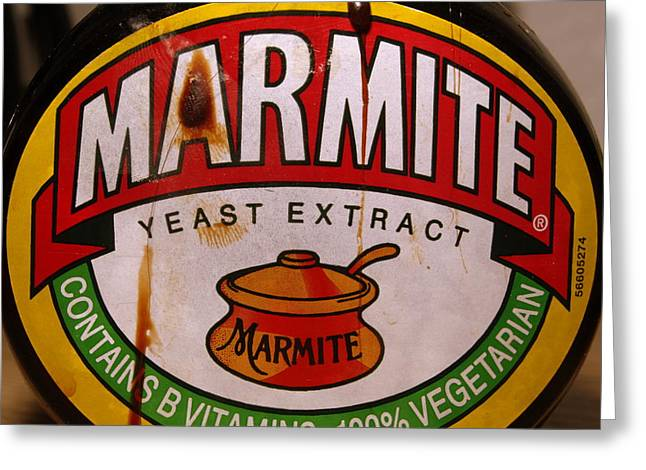 Marmite Greeting Card by Michael Canning