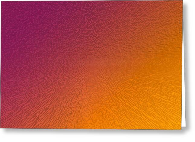 Maroon And Orange Greeting Card by Betsy Knapp