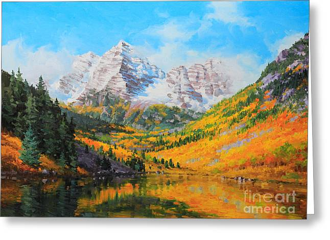 Maroon Bells Greeting Card by Gary Kim