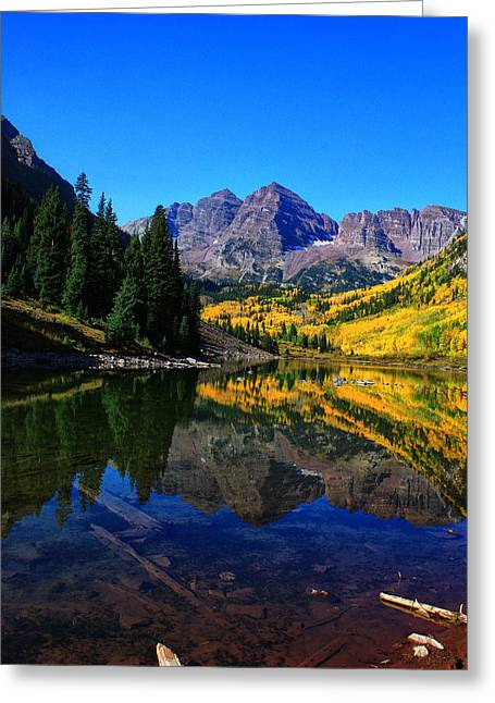 Maroon Bells In Aspen 2 Greeting Card by Bruce Hamel