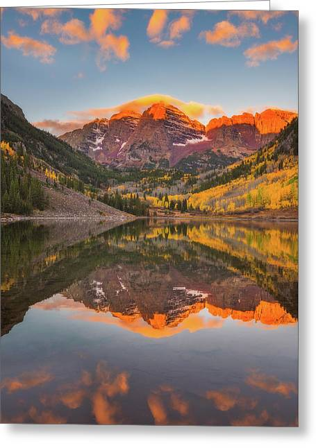 Maroon Bells Magic Greeting Card by Darren White
