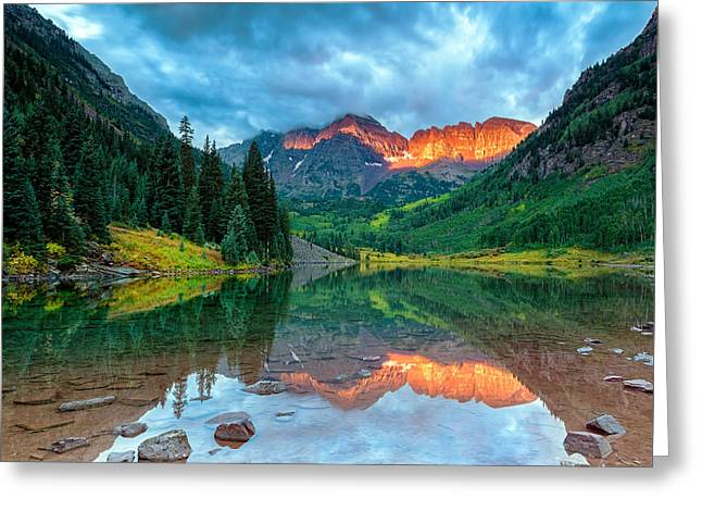 Maroon Bells Sunrise Greeting Card