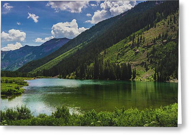Maroon Lake Panorama Greeting Card