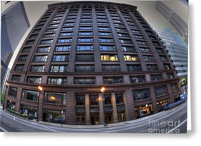Marquette Building - Chicago Greeting Card by David Bearden