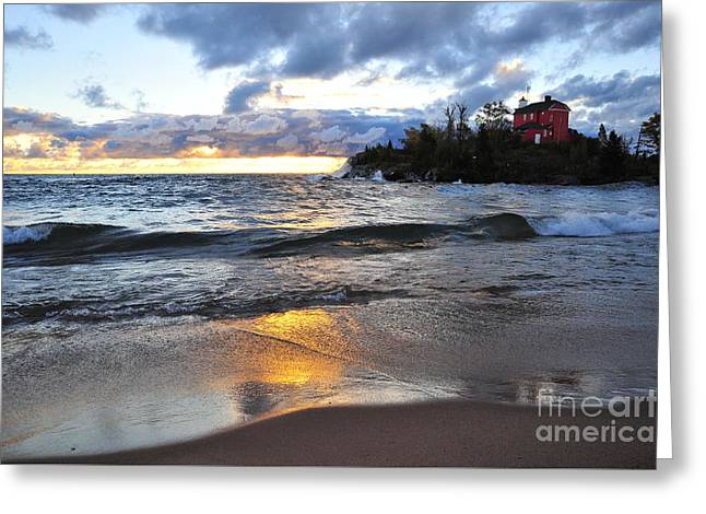 Marquette Harbor Lighthouse Greeting Card