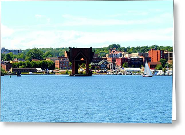 Marquette Michigan Harbor One Greeting Card