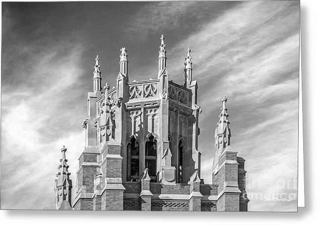 Marquette University Marquette Hall Greeting Card by University Icons