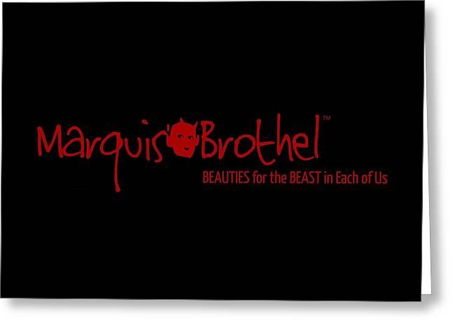 Marquis' Brothel Logo Greeting Card