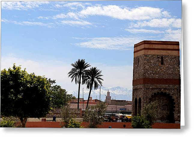 Greeting Card featuring the photograph Marrakech 2 by Andrew Fare