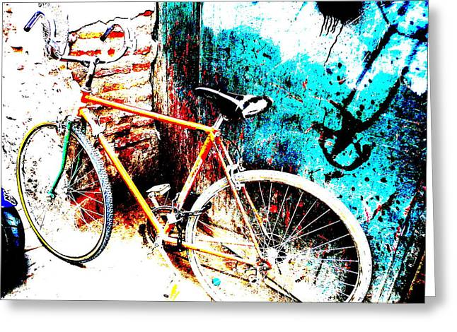 Marrakech Funky Bike  Greeting Card