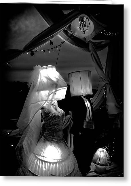 Greeting Card featuring the photograph Marriage Of Darkness And Light by Alan Raasch