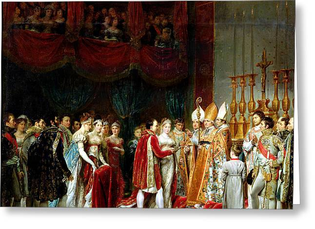 Marriage Of Napoleon I And Marie Louise Greeting Card by MotionAge Designs