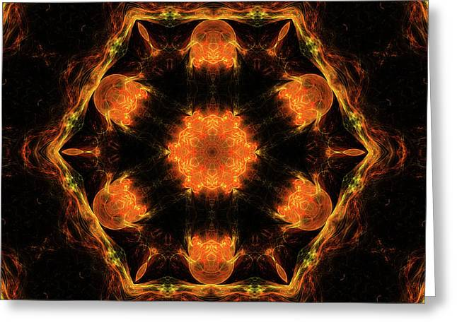 Mars In Fire Mandala 34 Greeting Card