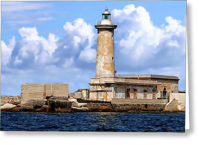 Marsala Lighthouse Greeting Card