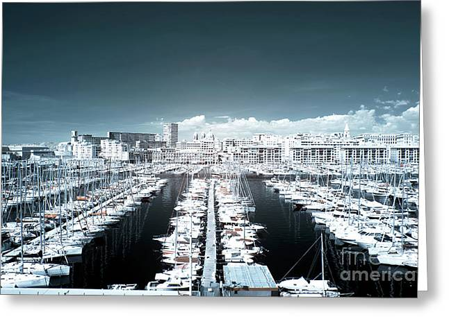 Marseille Blues Greeting Card by John Rizzuto