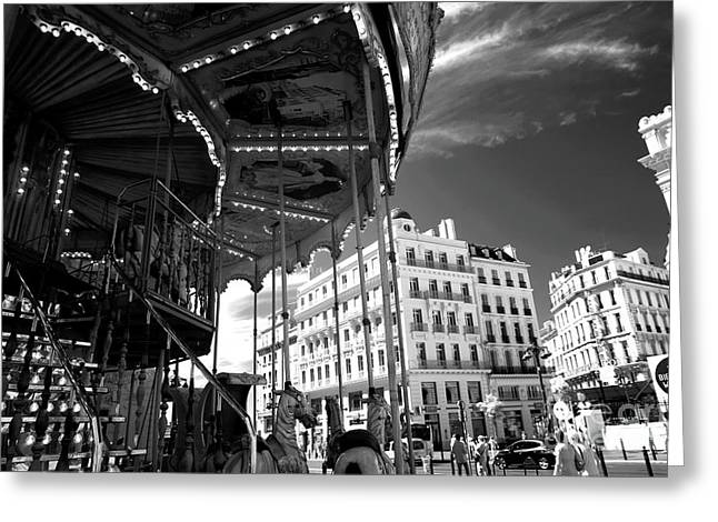 Marseille Carousel View Greeting Card