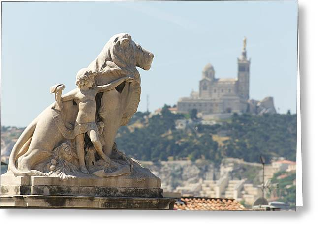 Marseille-saint-charles Statue, France Greeting Card