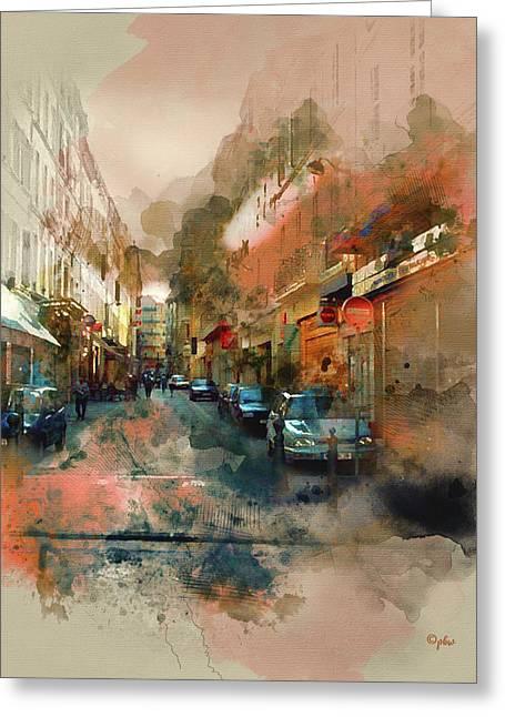 Marseille Side Street Greeting Card