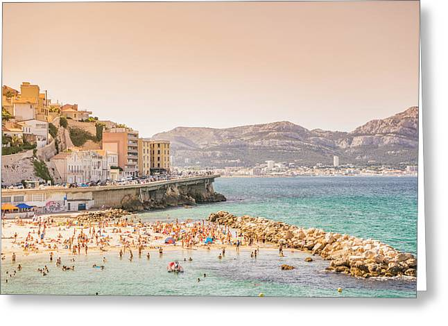 Marseille - South Of France - Beach Greeting Card by Vivienne Gucwa