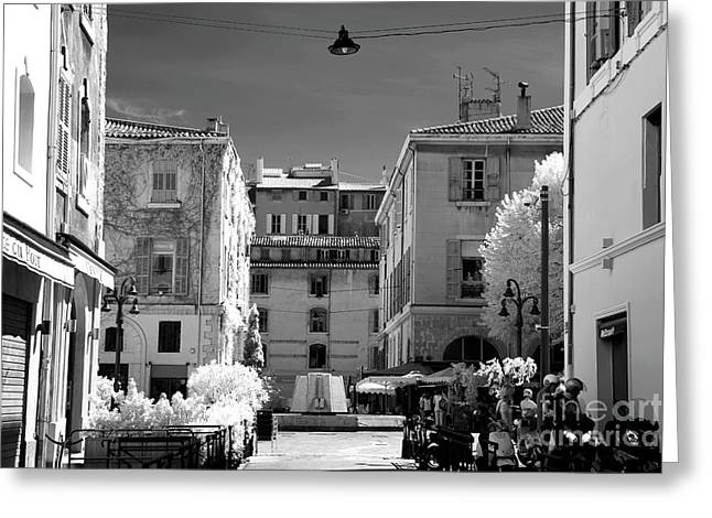 Marseille Street View Greeting Card by John Rizzuto