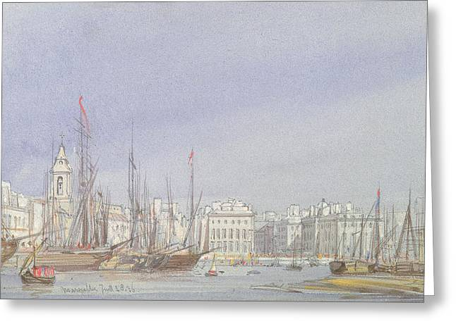 Marseilles Greeting Card by William Callow