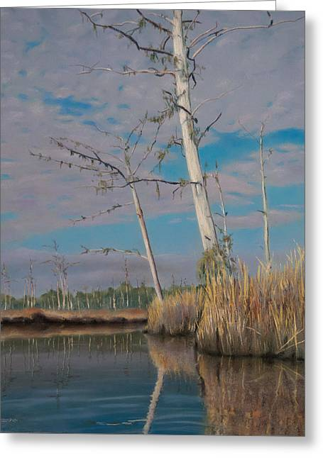 Marsh Greeting Card by Christopher Reid